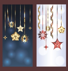 Set of two banners for christmas and new year vector image vector image