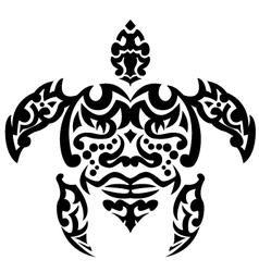 turtle tribal tattoo vector image