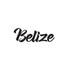 Belize text design calligraphy vector