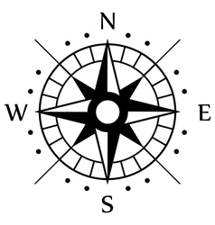 Black compass symbol vector