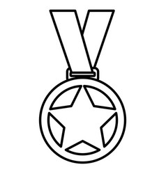 championship medals isolated icon vector image vector image