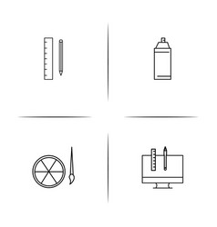 creative process and design simple linear icon vector image vector image