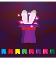 Magic hat with rabbit ears Elements for party vector image