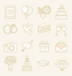 set of linear icons related to love vector image vector image