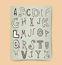 Sketch alphabet poster vector image vector image