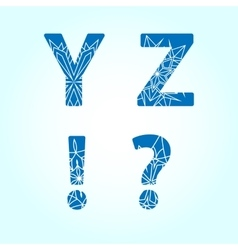 Winter letters set vector image