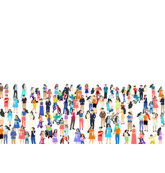 a group people walk and relax with their family vector image