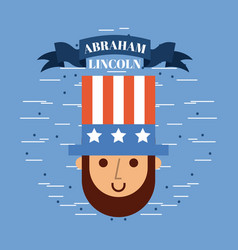 Abraham lincoln usa related image vector