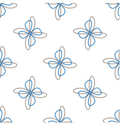 abstract flower white seamless background vector image