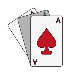 ace of spades card icon image vector image