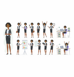 African businesswoman - cartoon people vector