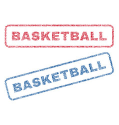 Basketball textile stamps vector