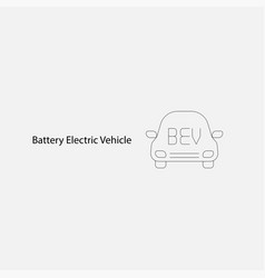 battery electric vehicle iconev charger icon vector image