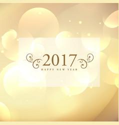 beautiful 2017 celebration greeting card design vector image vector image