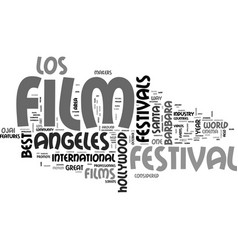 Best film festivals text word cloud concept vector