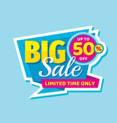 Big sale concept banner promotion poster discoun vector