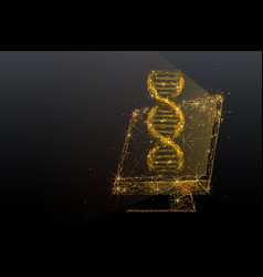 Biotechnology and genetic gold engineering vector