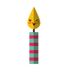 birthday candles kawaii character vector image