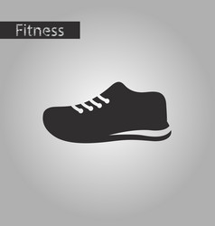 Black and white style icon sports shoes vector