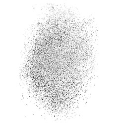 black grainy texture isolated on white vector image
