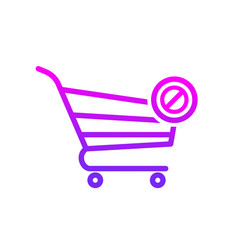 buy cart clear shop store icon vector image