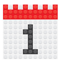 calendar 1 number vector image