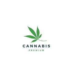 Cannabis leaf logo icon vector
