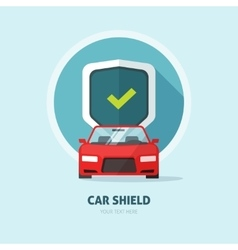 Car guard protection shield sign collision vector image
