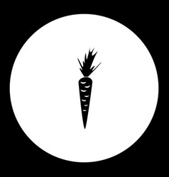 Carrot from farm simple silhouette black icon vector