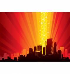 Cityscape and magic phenomenon vector