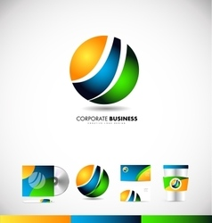 Corporate business sphere logo icon design vector image
