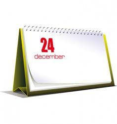 desk calendar vector image