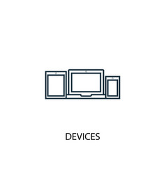 devices concept line icon simple element vector image