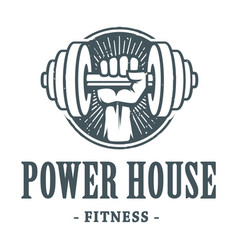 Fitness power house image vector
