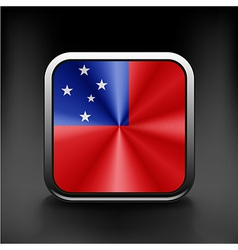 Flag of Samoa national travel icon country symbol vector