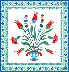 floral tile design vector image