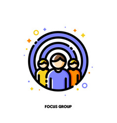 Focus group or market research concept icon vector