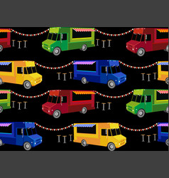 food trucks seamless pattern vector image