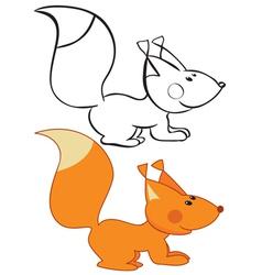 Funny squirrel vector image vector image
