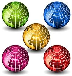 Glass globes vector