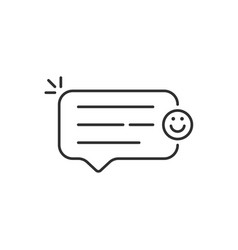 Good feedback bubble with linear smile vector