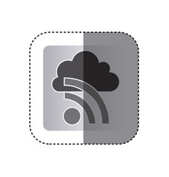 gray cloud wife network icon vector image