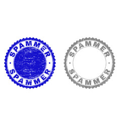 grunge spammer scratched stamps vector image