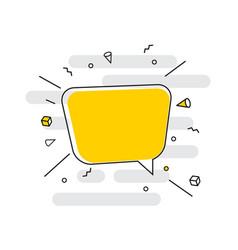 hand drawn speech bubbles icon vector image