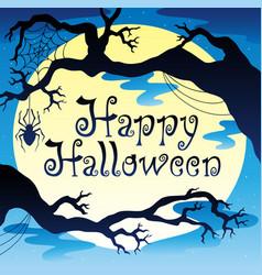 Happy halloween theme with moon 3 vector