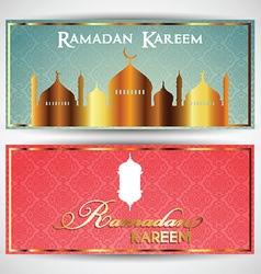 Headers for Ramadan vector image vector image