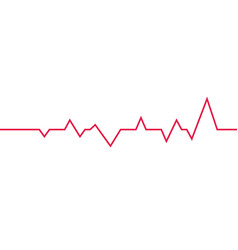 heart beat line isolated icons on white vector image