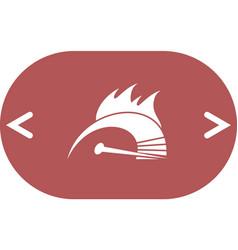 High speed burning symbol icon vector
