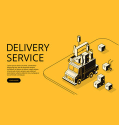 House moving or shop delivery vector