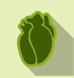 Human heart flat style simple of internal vector
